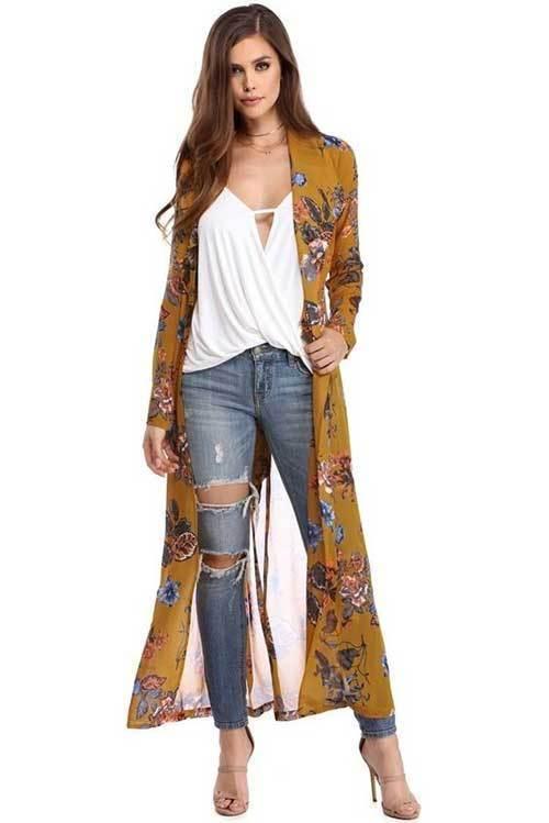 2019 Kimono Cardigan Outfit Ideas