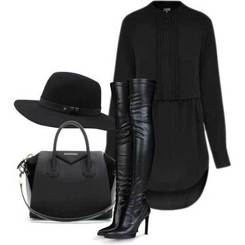 Women's All Black Night Out Outfits