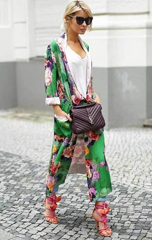 Ankle Length Kimono Cardigan Outfit Ideas