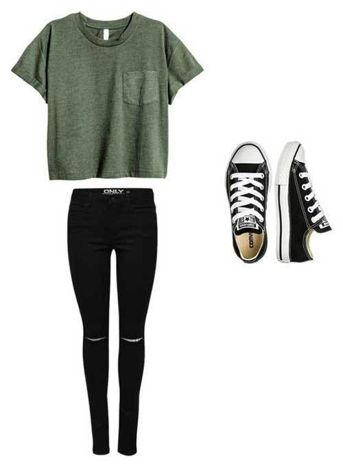Converse Back to School Outfits for Girls-9