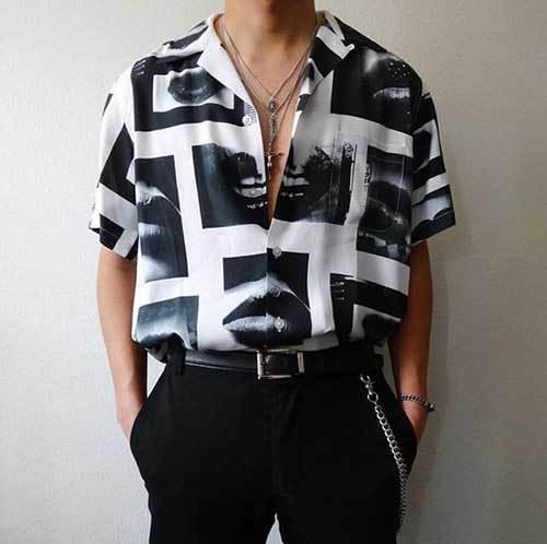 Summer Retro Shirt Outfit İdeas Men