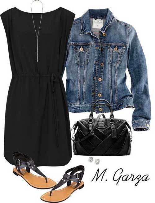 Womens Black Dress Spring Outfits