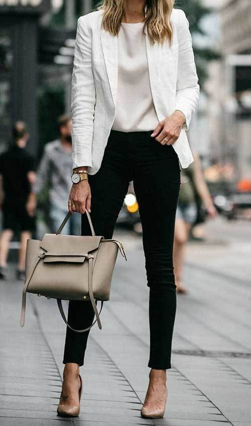 Womens Black and White Outfit