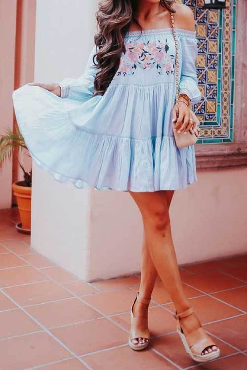 Womens Bohemian Spring Outfits