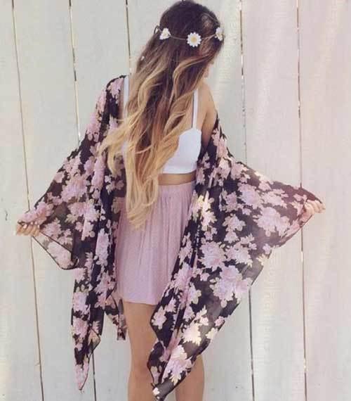 Boho Kimono Cardigan Outfit Ideas