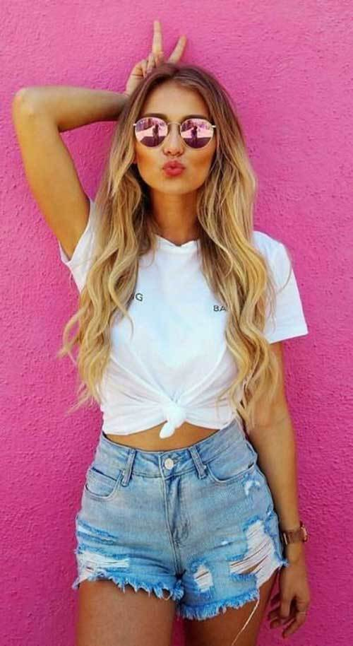 Cute New Summer Ripped Denim Short Outfits