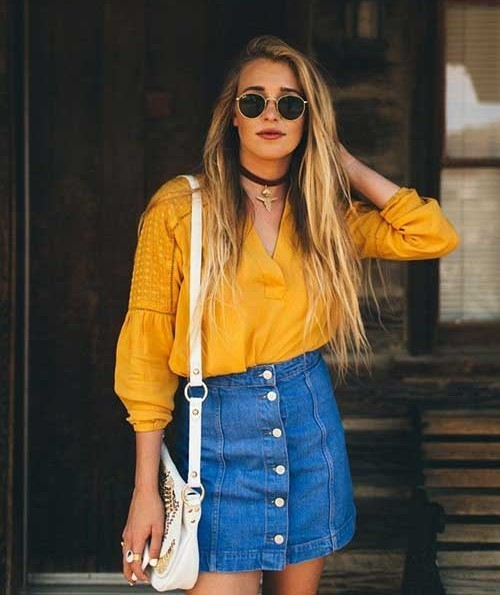 Denim Skirt Cute New Summer Outfits