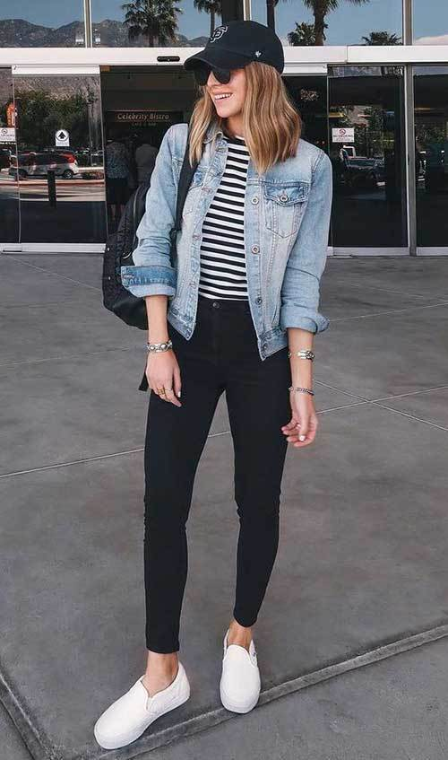 Denim Sneakers Outfit for Women