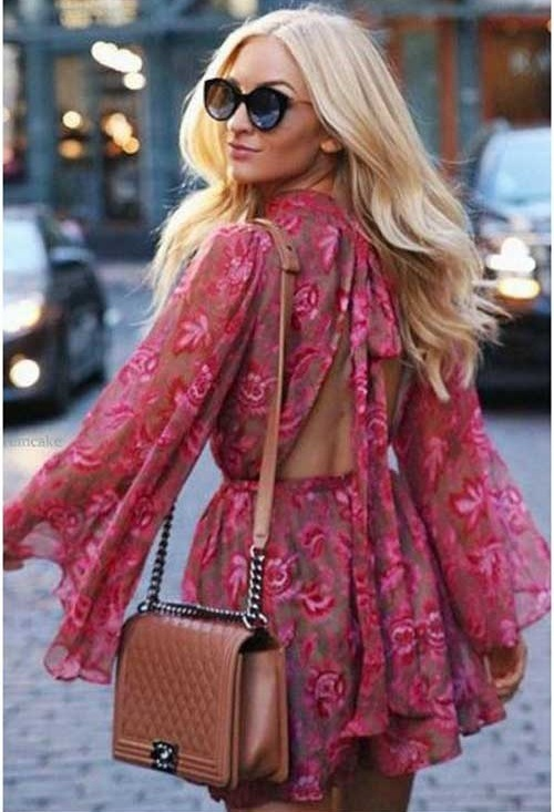 Summer Bohemian Floral Outfit Ideas