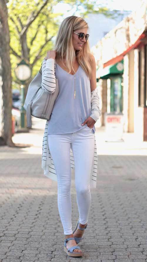 Womens Full White Spring Outfits