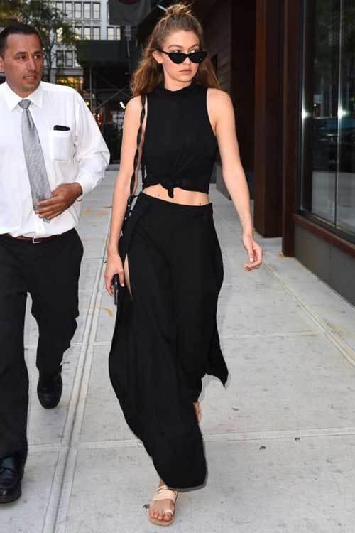 Gigi Hadid Full Blackstreet Style