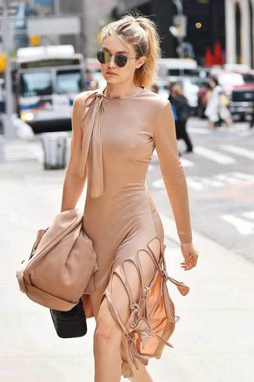 Gigi Hadid Street Style Dress