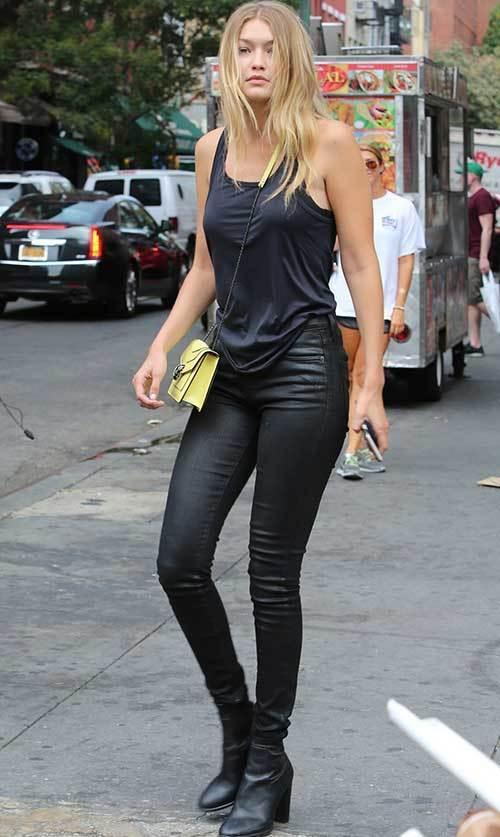Gigi Hadid Street Style Black Outfit Idea