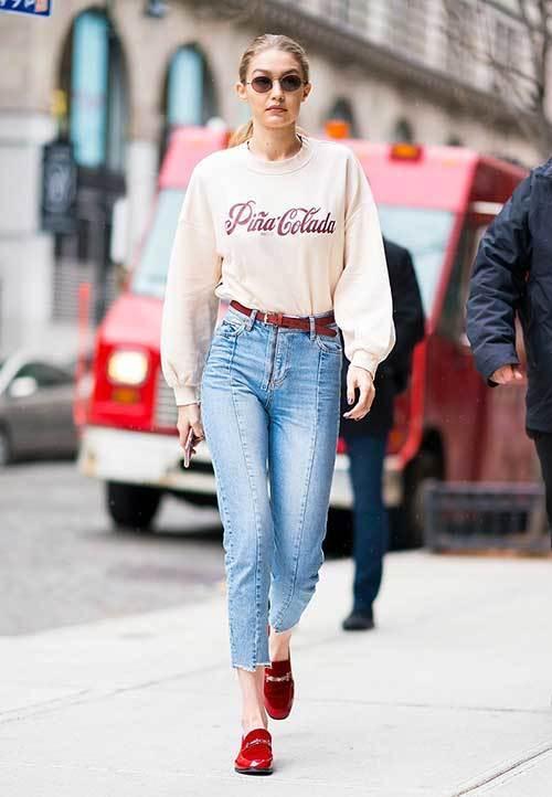 Gigi Hadid Street Style Denim Outfit