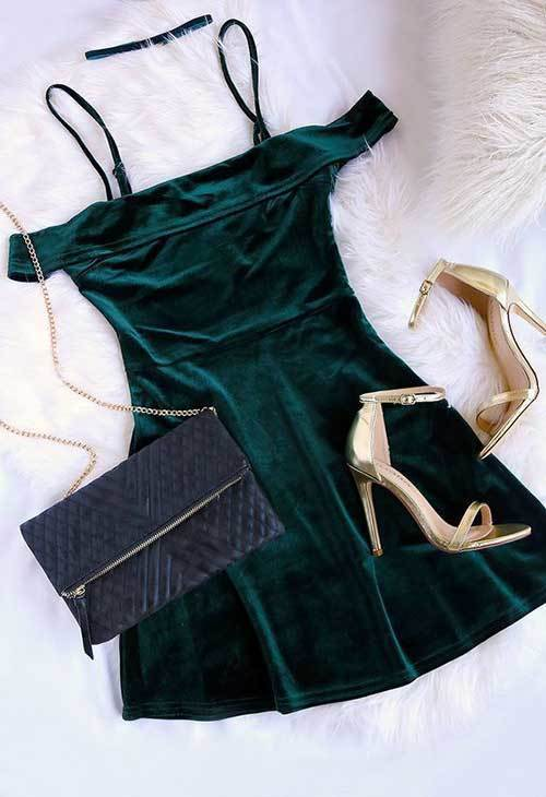 Women's Green Night Out Outfits