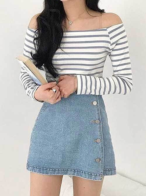 Grunge Style Denim Outfit for Women