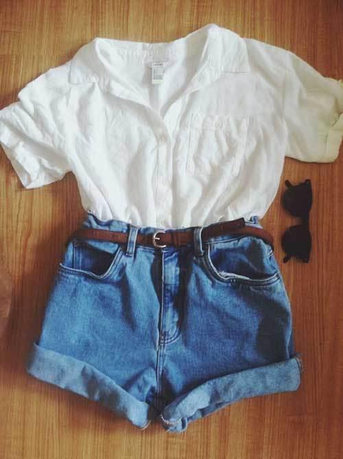 High Waisted Denim Outfits