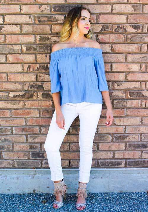 Womens Off Shoulder Spring Outfits