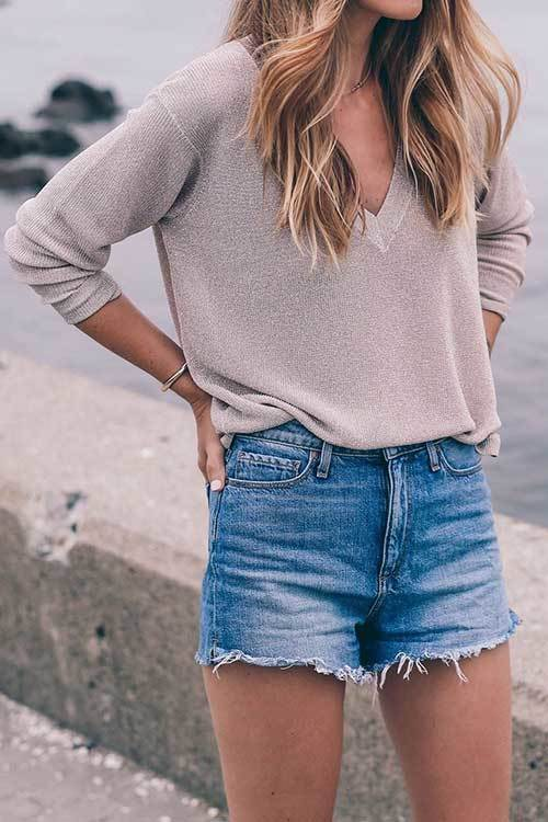 Womens Spring Outfit with Shorts