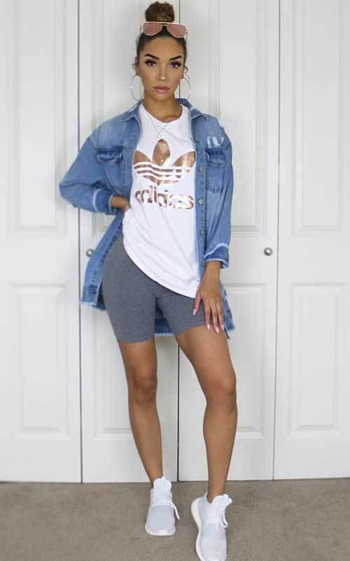 Biker Shorts Lazy Day Outfit Fashion