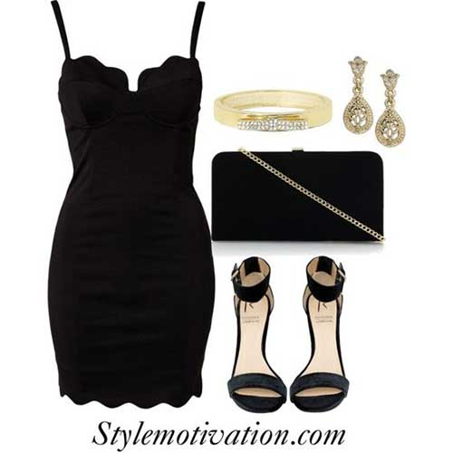 Casual Little Black Dress Party Outfit Ideas