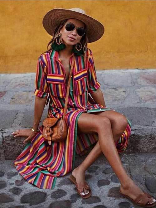 Long Boho Dress Festival Fashion Trends