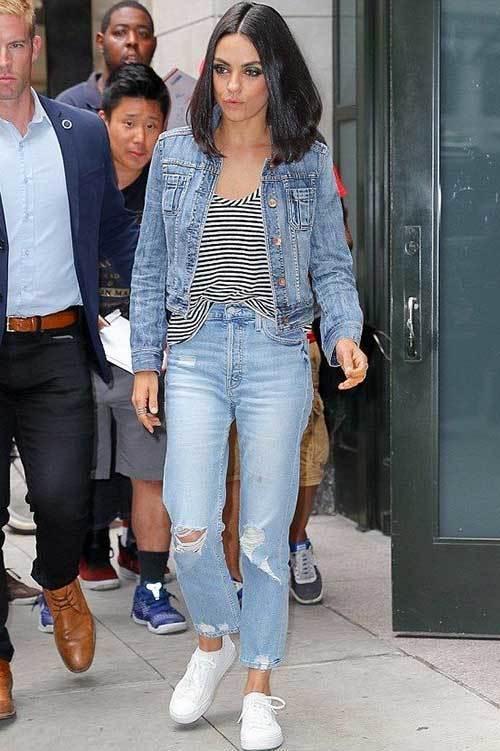 Mila Kunis Denim Outfits