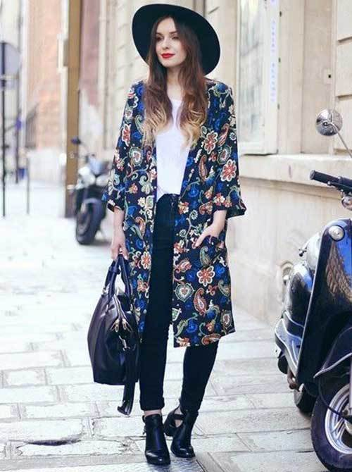Oversized Kimono Cardigan Outfit Ideas
