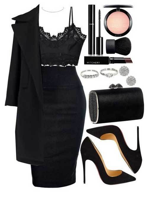 Women's Pencil Skirt Night Out Outfits