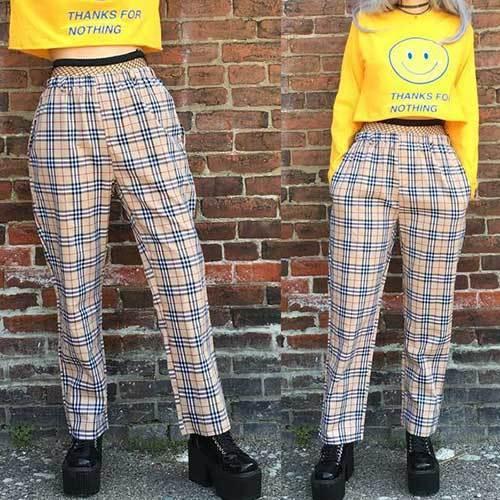Plaid Trousers Festival Trends