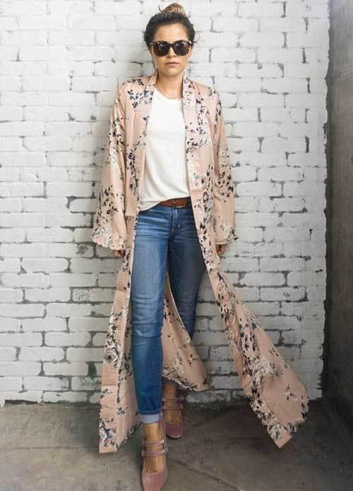 Silky Kimono Cardigan Outfit Ideas