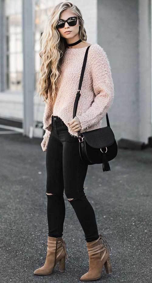 Skinny Jeans Street Fashion