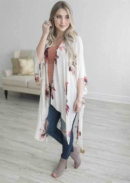 Spring Kimono Cardigan Outfit Ideas