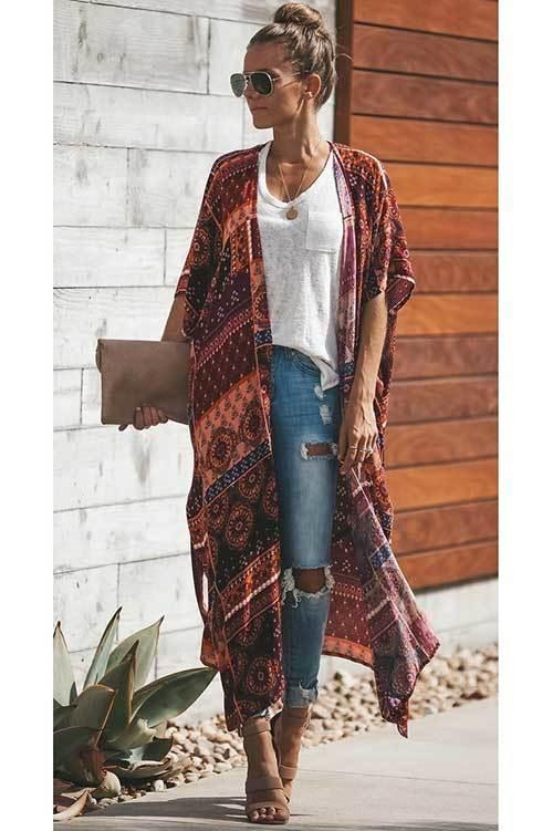 Street Style Kimono Cardigan Outfit Ideas