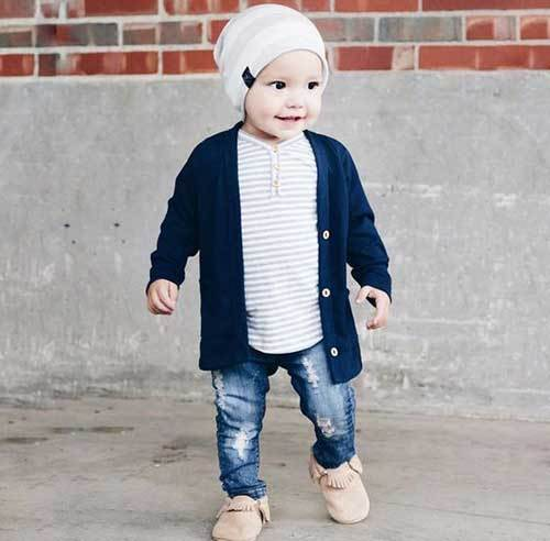 Boy Toddler Cardigan Outfits
