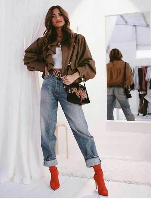 Vintage Denim Outfit for Women
