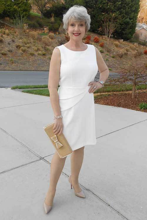 Latest White Dress Fashion for Older Women