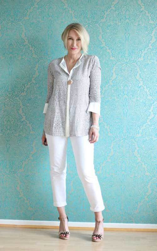 Latest White Pants Fashion for Older Women