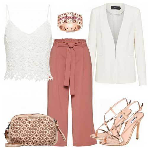 Wide Leg Pants Casual Party Outfit Ideas