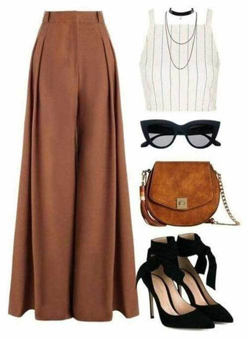 Women's Wide Legged Pants Night Out Outfits