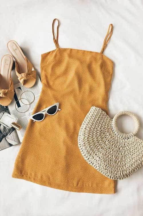 Cute New Summer Yellow Dress Outfits
