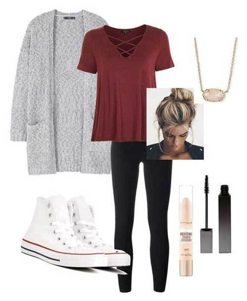 Cute Lazy Day Outfits-10