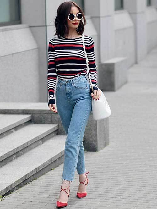 Mom Jean Capri Outfit Ideas-10