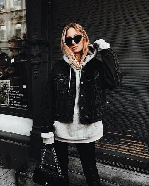 Big Hoodie Jacket Outfit Ideas-11