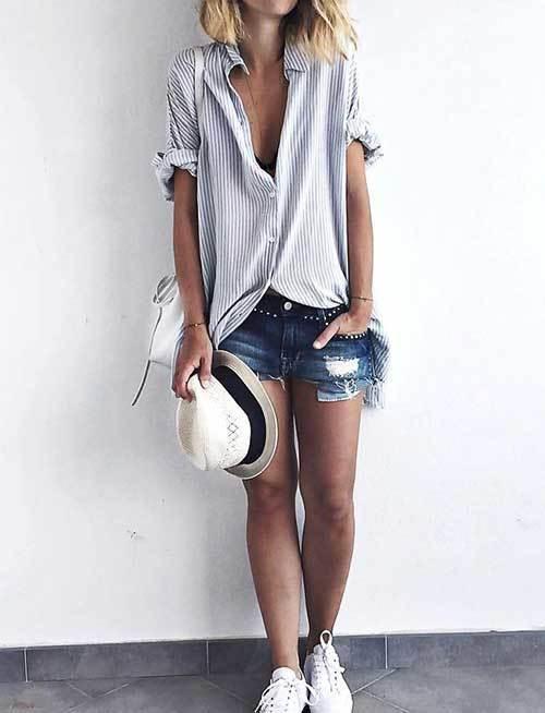 Easy Summer Boyfriend Shirt Outfits-13