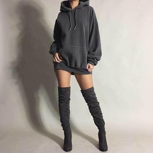 Big Hoodie Oversized Outfit Ideas-14