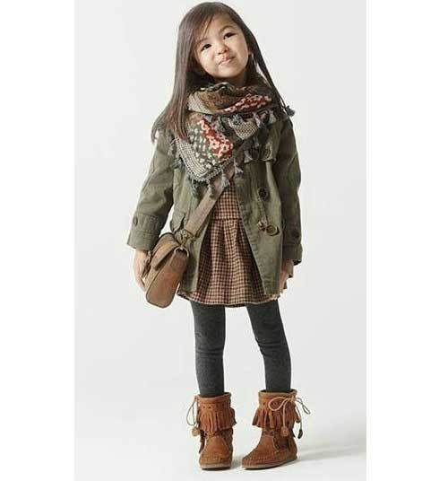 Toddler Girl Dress Modern Outfits-14