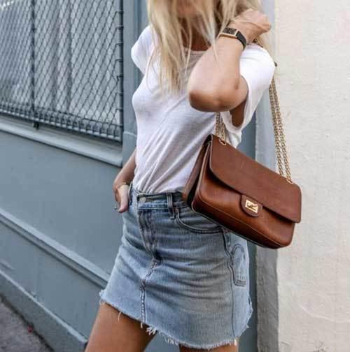 High Waisted Skirt Simple Outfit Ideas-15