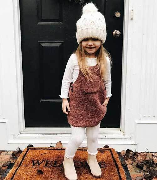 Toddler Girl Dress Winter Outfits-15
