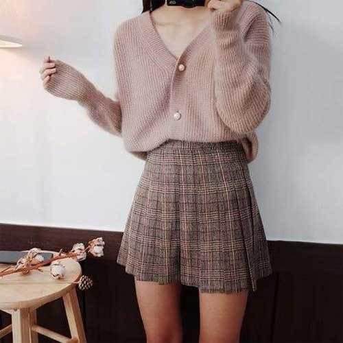Korean Fashion Skirt Outfits-16